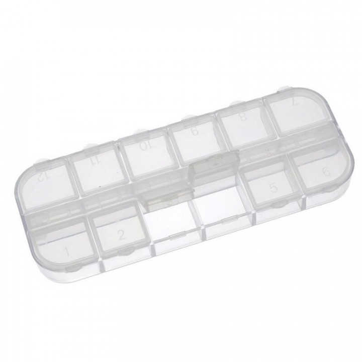 Контейнер для дизайна пластиковый (12 отсеков)